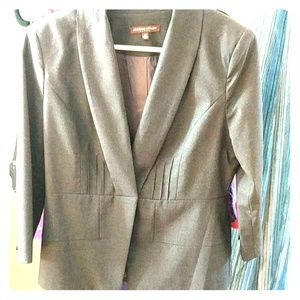 Adrienne Vittadini dark gray blazer, 3/4 sleeves